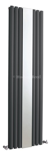 Revive Mirror Vertical Designer Anthracite Double Panel Radiator | HLA79