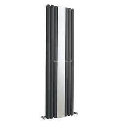 Revive Mirror Vertical Designer Anthracite Double Panel Radiator | HLA79